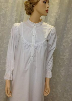 752080731c White cotton full length nightgown for women nightgown-2