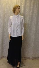 Fancy pleaded white ladies blouse  BLOUSE- BB